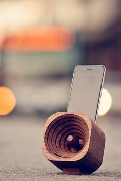 Three friends, one old carpentry shop, and an amazing result  ̶  Trobla. This wooden amplifier is made to fit many smartphone models.  More about Trobla at Gemfound.com
