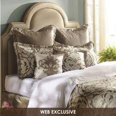Sleep on the stylish Villa Pantina 8-pc. Queen Comforter Set #Kirklands #sleepinstyle! #comforter