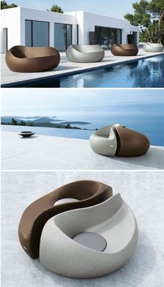 The Yin Yang Beach Chair from Dedon. | outdoor furniture, patio furniture, modern outdoor furniture
