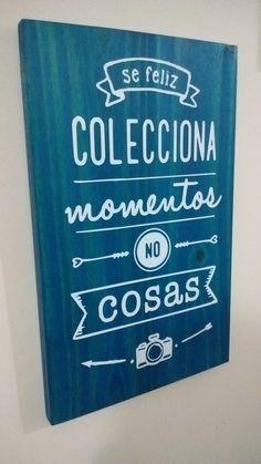 Cuadros Con Frases En Madera, Modernos, Decoración 20x30 Cm. - $ 95,00 en MercadoLibre