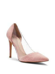 Victoria's Secret Pointed-Toe Pump in Black or Rose Cloud.