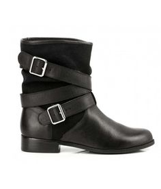 Bottines toile et cuir Natalya BLACK  by MELLOW YELLOW
