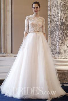A two-piece @costarellos wedding dress | Brides.com