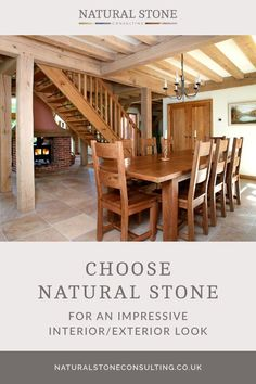 Natural stone flooring is an ideal choice when you're looking for versatile and durable tiles which style your interior with striking effect. Faringdon flagstones were used throughout the downstairs of this impressive oak-framed house including in the traditional kitchen and hallway area. Here at the Natural Stone Consultancy we have a range of natural stone tiles available on our website, why not visit it today. #naturalstoneconsultancy #naturalstoneflooring #flagstones Limestone Tile, Stone Tiles, Luxury Interior, Interior And Exterior, Flagstone Flooring, Natural Stone Flooring, Underfloor Heating, Traditional Kitchen, Kitchen Living