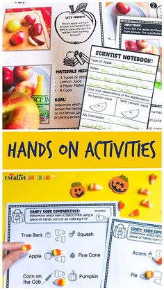 Fall Hands On Learning Activities for Speech and Language Skills Halloween Speech Therapy Activities, Speech Activities, Vocabulary Activities, Autumn Activities, Hands On Activities, Science Activities, Social Skills Games, Early Elementary Resources, Get To Know You Activities