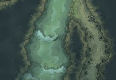 The Cavern River, a battle map for D&D / Dungeons & Dragons, Pathfinder, Warhammer and other table top RPGs. Tags: cave, dungeon, mine, river, spooky, stream, tunnel, underdark, underground, water
