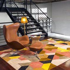 欧式彩色客厅门厅沙发卧室房间长方形手工简约格子家用地毯-淘宝网