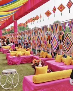 Let's jump to the list of off-beat Mehndi ceremony decoration ideas, that will lit up your decor in the best way, unique mehndi decor ideas Desi Wedding Decor, Outdoor Wedding Decorations, Backdrop Decorations, Ceremony Decorations, Arch Wedding, Wedding Events, Mehndi Decor, Mehendi Decor Ideas, Mehndi Party