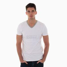 Tee Shirt Guess 1802 Col V Blanc