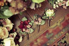 fall  boutonniere ideas | Fall wedding in Georgia- groom's boutonniere | OneWed.com