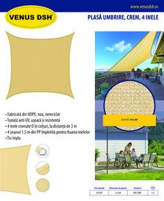 ✪ Fabricată din HDPE; nou, nereciclat ✪ Tratată anti UV, ușoară și rezistentă ✪ 4 inele cromate D în colțuri, la distanță de 3 m ✪ 4 șnururi 1.5 m din PP împletită pentru fixarea inelelor ✪ Tiv triplu ✪ Dimensiune de gabarit: 3 x 3 m ✪ Culoare crem ✪ Densitate: 180 g/mp 👁️ Solicită mai multe informații »»» | Tel: 0786.726.912 #plasaumbrire #plasaUV #SHADOWNET #gradina #ArticoleGradina #UV #newproduct #sezon #VenusDSH #share #like