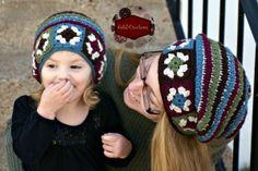 Granny Square Star Stitch Slouchy