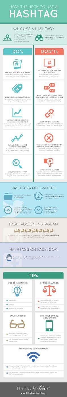 How The Heck To Use A Hashtag - #infographic
