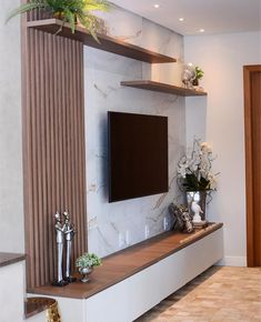 65 Know Some Facts About Your TV Wall Decor 4 - dougryanhomes Living Room Partition Design, Living Room Tv Unit Designs, Room Partition Designs, Ceiling Design Living Room, Home Room Design, Tv Wall Design, Tv Unit For Bedroom, Modern Tv Room, Modern Tv Wall Units