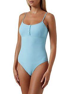 Melissa Odabash, Swimsuits, Swimwear, Saks Fifth Avenue, One Piece Swimsuit, Bathing Suits, Fitness Models, Neckline