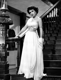 Elizabeth Taylor wearing a dress by Edith Head in 'Elephant Walk', 1954.