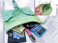 Fold-Over Zipper Top Purse | Sew4Home