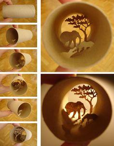 A arte no rolo de papel higiênico de Anastassia Elias