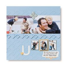 Love the new Border Maker and especially the double heart cartridge. Neat page, isn't it?  #scrapbooking