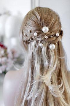 Bridal Hair Pins Pearl Hairpin Bridal Pearls Pearls