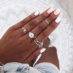 Moonstone Engagement Ring White gold Oval cut engagement ring Simple Three stone Diamond wedding women Bridal set Anniversary gift for her - Fine Jewelry Ideas White Gold Rings, Black Rings, Silver Rings, Hand Jewelry, Cute Jewelry, Teen Jewelry, Piercings, Rings Tumblr, Blush Pink Nails