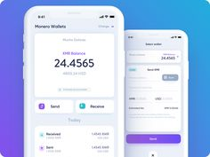 CakeWallet: Monero Wallet for iOS designed by Michal Sambora for ITMAGINATION. Connect with them on Dribbble; Graphisches Design, App Ui Design, User Interface Design, Dashboard Design, Flat Design, Icon Design, Graphic Design, Card Ui, Taxi App