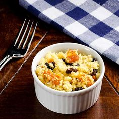 Couscous with Dried Fruit. Couscous with Dried Fruit a quick version of North African pasta Dried Fruit, Spicy Recipes, Couscous, Macaroni And Cheese, Side Dishes, Sweet Tooth, Vegetarian, Vegan, Healthy