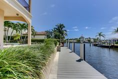 """THERE IS PROTECTED DEEPWATER DOCKAGE, (NEW """"EVERGRAIN"""" DOCK) WITH WATER AND ELECTRIC. #JAGHOMES #JULIEANNGIACHETTI #WATERFRONT #DELRAYBEACH #DOCK #BOATING"""