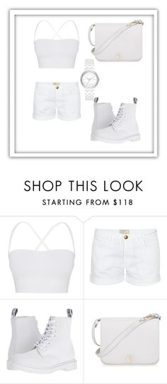 """""""Simple white"""" by mayammm ❤ liked on Polyvore featuring Theory, Current/Elliott, Dr. Martens, Furla and DKNY"""