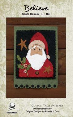 Believe Santa Banner pattern
