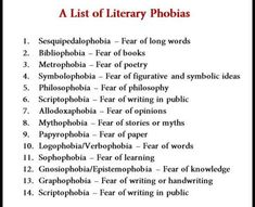 Longest Word, Word 2, Phobias, Did You Know, Philosophy, Writing, Funny, Books, Libros