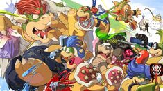Bowser X Splatoon Turf War 2016 by MasaBowser Super Mario Run, Super Mario Games, Mario Y Luigi, Super Mario Brothers, Cute Pokemon, Super Smash Bros, Game Art, Bowser, Artist