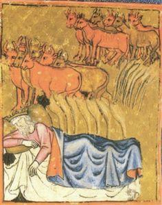 Der Traum des Pharao (Gen 41,1–36). London, British Library,
