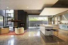 Kitchen Decorative Minimalism in Modern Contemporary Home Design of The Blairgowrie Court Residence Luxury House Furniture Interior Exterior Colors Trends Idea 2010 Melbourne Australia Homes