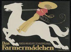 "Julius Klinger, theater poster ""Das Farmermädchen"", 1913."