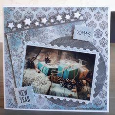 Nicolette's kaarten: Kerstkaart week 16 Christmas Cards, Xmas, Frame, Decor, Christmas E Cards, Picture Frame, Decoration, Xmas Cards, Christmas