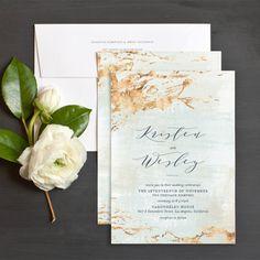Earthy Organic Wedding Invitations by Emily Crawford | Elli