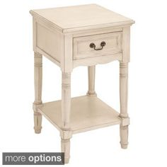 Casa Cortes Antiqued Solid Wood Night Stand | Overstock.com Shopping - The Best Deals on Nightstands