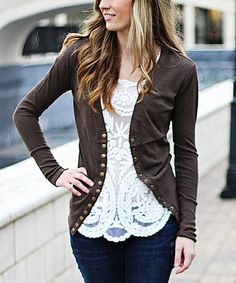 Snap Front Cardigan--Zulily