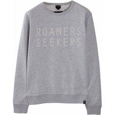 Roamers & Seekers - Roam Seek Sweatshirt (765 SEK) ❤ liked on Polyvore featuring men's fashion, men's clothing, men's hoodies, men's sweatshirts, mens crewneck sweatshirts and mens crew neck sweatshirts