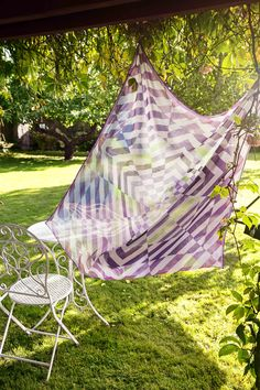 When the sun appears, the vines in the garden change in an instant. Are they calm and serene or strong and vibrant Outdoor Furniture, Outdoor Decor, Hammock, Serenity, Vines, Scarves, Vibrant, Calm, Strong