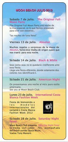 Moon Beach, fiestas en #Benidorm