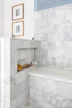 Altadena Modern Farmhouse New Construction Shower Niche, Master Shower, Master Bathroom, Bathroom Renos, Small Bathroom, Bathroom Vanities, Bathroom Remodeling, Basement Remodeling, Remodeling Ideas