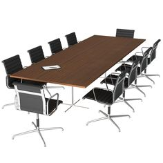 Free 3D Models - Conference Table & Chairs - 3D Squirrel