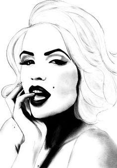 marilyn monroe sketch | Marilyn Monroe Art / Marilyn Monroe sketch - this looks a little like ...