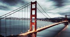 Golden Gate Bridge mural wallpaper