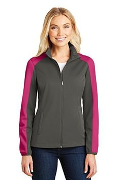 479f7196cc2 Port Authority Ladies Active Colorblock Soft Shell Jacket. L718 at Amazon  Women s Coats Shop