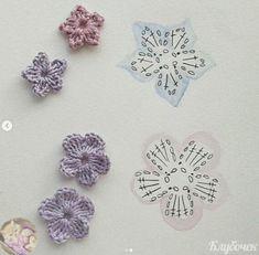 Free and easy crochet patterns. Good idea to crochet nice flowers Crochet Diagram, Easy Crochet Patterns, Crochet Motif, Crochet Stitches, Crochet Afghans, Crochet Vintage, Love Crochet, Irish Crochet, Crochet Flower Tutorial
