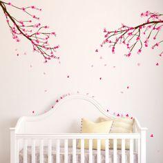 Mural de vinilo para el cuarto de la bebé