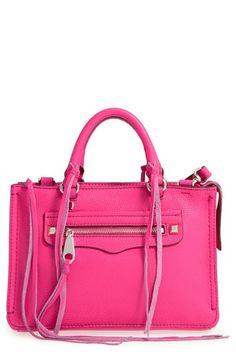 REBECCA MINKOFF 'Micro Regan' Satchel. #rebeccaminkoff #bags #shoulder bags #hand bags #leather #satchel #lining